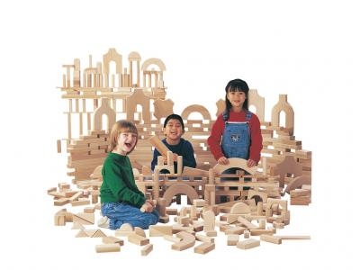 Unit Blocks - Starter Set / 86 pieces, 14 shapes