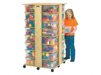 32 Cubbie Tower With Colored Tubs