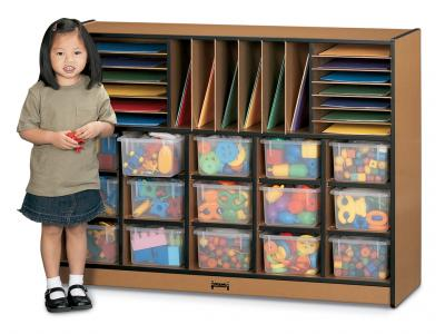 Sectional Mobile Cubbie With Colored Trays - Sproutz