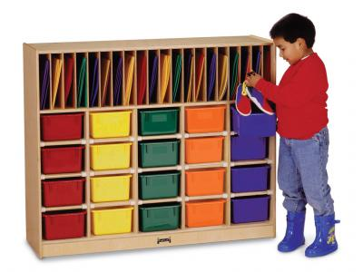 Classroom Organizer - 20 - With Colored Trays
