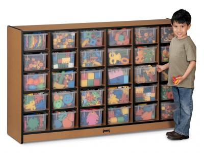 30 Tray Mobile Storage With Colored Trays - Sproutz