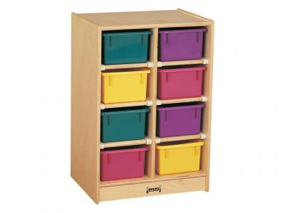 Kids 8 Tray Mobile Storage With Clear Trays