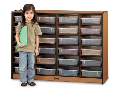 24 Paper-tray Cubbie With Clear Paper-trays - Sproutz