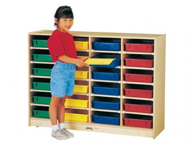 24 Paper-tray Cubbie With Colored Paper-trays