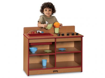 Kids Toddler 2-in-1 Kitchen - Sproutz (Caramel)