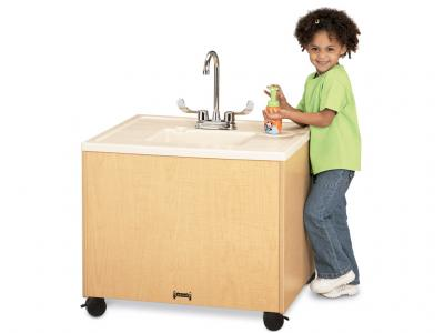 "Clean Hands Helper W/plastic Sink - MapleWave - 38"" High"