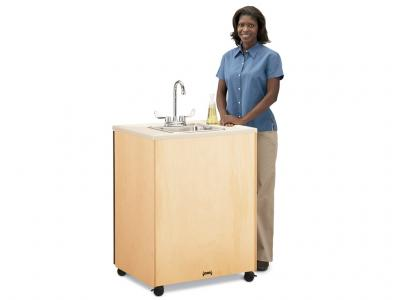 "Birch Clean Hands Helper W/plastic Sink - 24"" High"