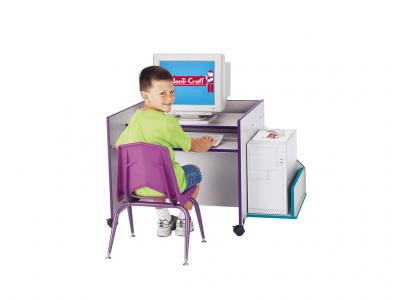 Kids Kydz Computer Desk - Rainbow Accents - Single