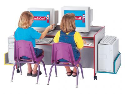 Kids Kydz Computer Desk - Rainbow Accents - Double