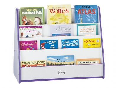 Pick-a-book Stand - Rainbow Accents - 2 Sided (Blue)