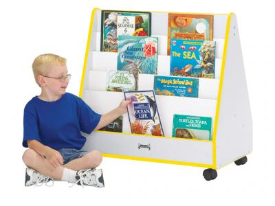 Mobile Pick-a-book Stand - Rainbow Accents - 1 Sided