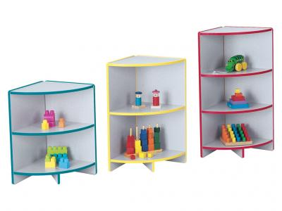 "Kids Kydzcurves[tm] - Rainbow Accents - Corner - 35"" High"