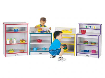Kids Toddler Kitchen - Rainbow Accents - 4 Piece Set (Red)
