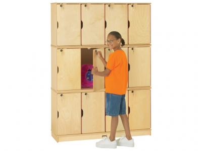 Stacking Lockable Lockers - ThriftyKydz - Triple Stack