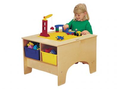 Kydz Building Table - Lego[tm] Compatible With Colored Tubs