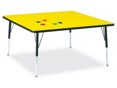 "Kydz Activity Table - Ridgeline - Square - 48"" X 48"", 24"" - 31"" Ht"