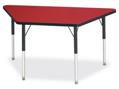 "Kydz Activity Table - Ridgeline - Trapezoid - 24"" X 48"", 15"" - 24"" Ht"