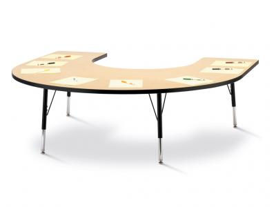 "Kydz Activity Table - Ridgeline - Horseshoe - 66"" X 60"", 11"" - 15"" Ht"
