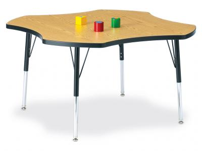 "Kydz Activity Table - Ridgeline - Four Leaf - 48"", 24"" - 31"" Ht (Yellow)"