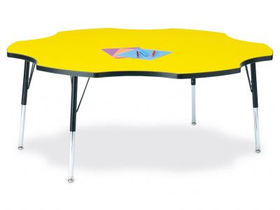 "Kydz Activity Table - Ridgeline - Six Leaf - 60"", 15"" - 24"" Ht"