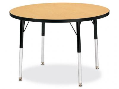 "Kydz Activity Table - Ridgeline - Round - 36"" Diameter, 15"" - 24"" Ht (Yellow)"