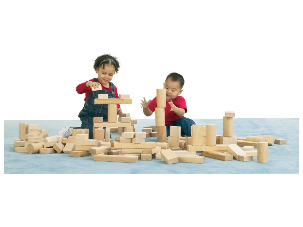 Abel Block Set / 154 pieces, 4 shapes