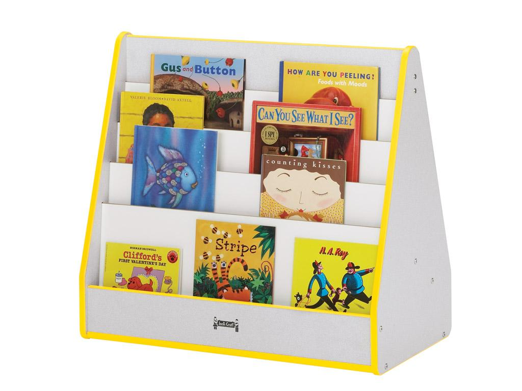 Pick-a-book Stand - Rainbow Accents - 1 Sided (Teal)