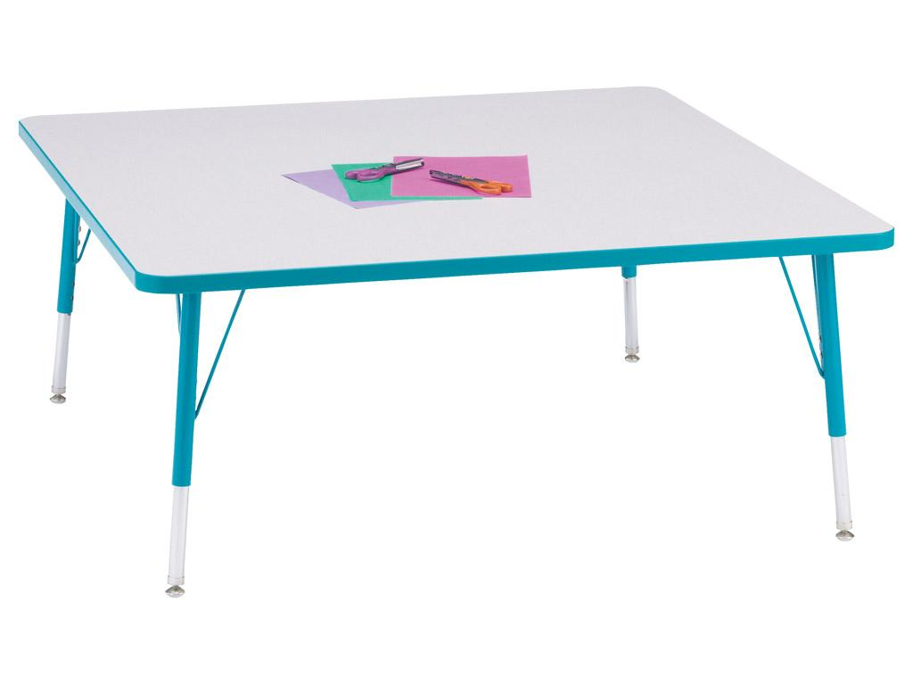 Kydz Activity Table - Rainbow Accents - Square - 48
