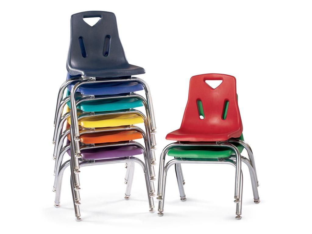 Plastic Chair W/chrome-plated Legs - Berries - 10