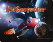 Kid Computers Space Rocket Mouse Pad