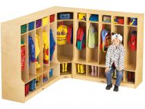 Corner Coat Locker W/step