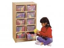 10 Tray Mobile Storage With Colored Trays