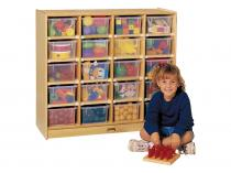 20 Tray Mobile Storage With Colored Trays