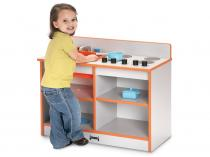 Kids 2-in-1 Toddler Kitchen - Rainbow Accents