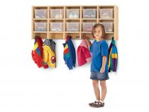 Coat Locker - MapleWave - Large Wall Mount With Clear Trays
