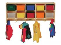 Coat Locker - Large Wall Mount Without Trays