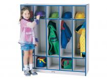 Coat Locker - Rainbow Accents - 5 Sections