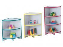 "Kids Kydzcurves[tm] - Rainbow Accents - Corner - 24"" High"