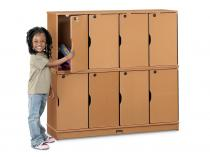 Stacking Lockable Lockers - Sproutz - 4 Sections - Single Stack