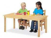 "Large Multi-purpose Rectangle Table - 10"" High"