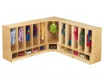 Toddler Corner Coat Locker W/step Without Tray